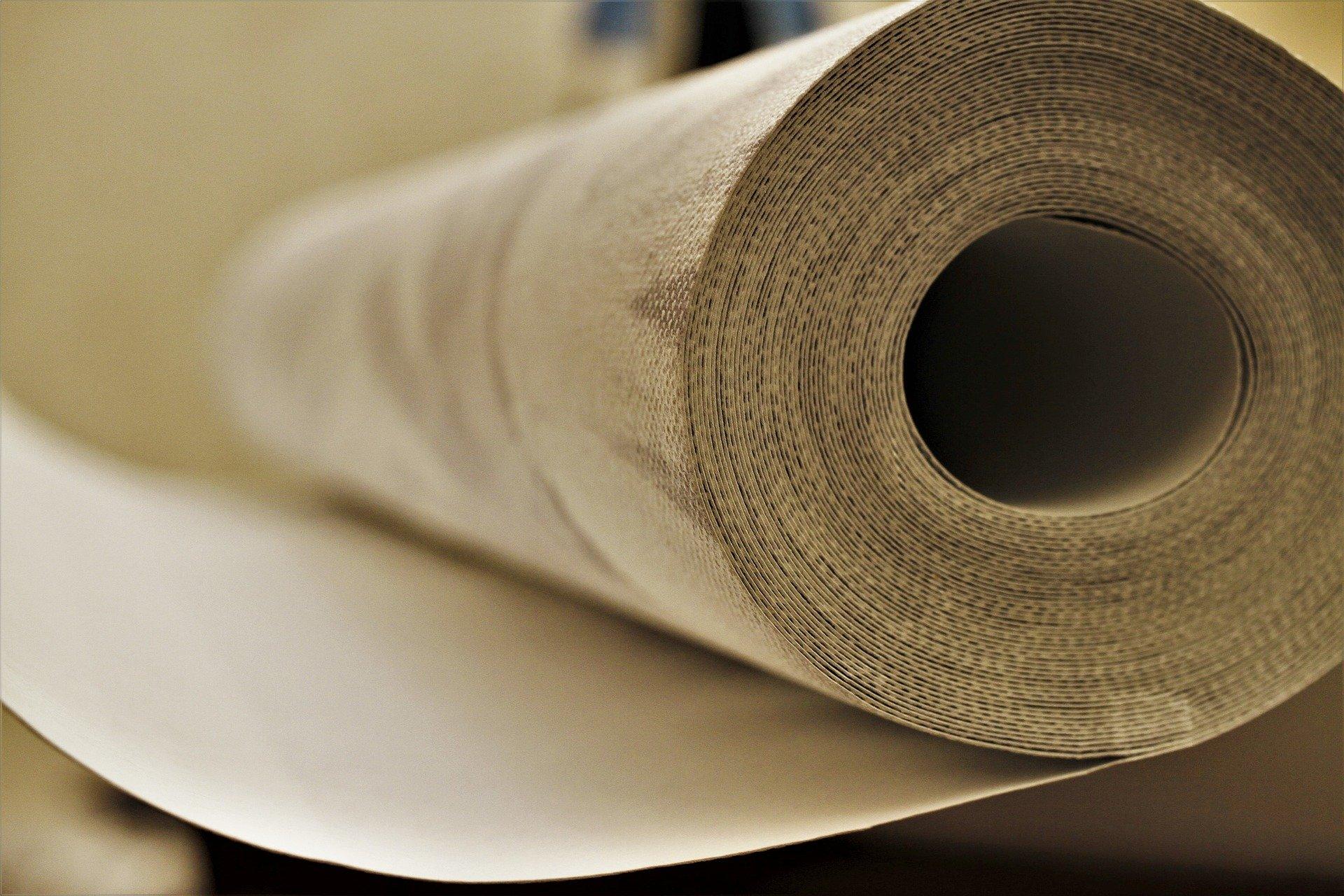 A roll of wallpaper